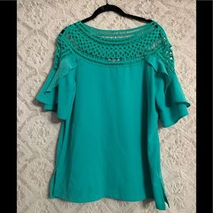 Turquoise boutique style shirt